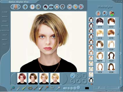 Salon Styler Pro is the salon industry's leading hairstyle imaging software,